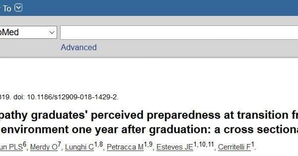 Recherche : publication d'un article sur la satisfaction des étudiants en ostéopathie en Europe