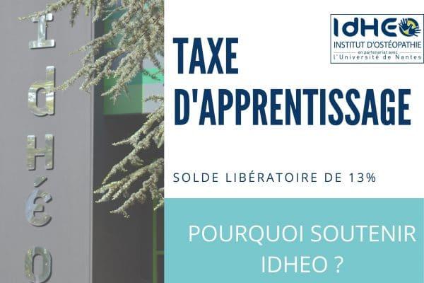 Taxe d'apprentissage 2021 : Comment soutenir IdHEO Nantes ?