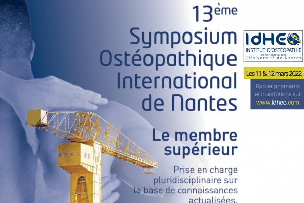 Symposium Ostéopathique International de Nantes – La billetterie est ouverte !